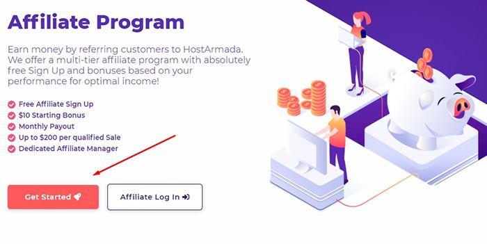 Đăng ký tài khoản Affiliate HostArmada Program | Hướng dẫn Affiliate HostArmada